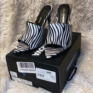 FashionNova Zebra Pumps
